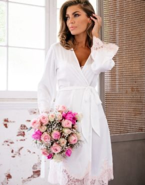 Lucy Ivory Robe