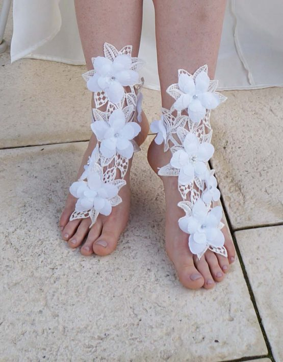 barefoot sandal flower big