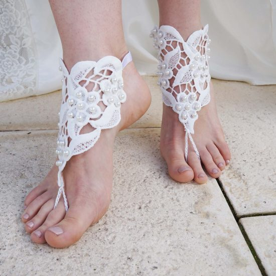 Barefoot Heart Sandals - Ivory