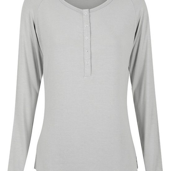 'Henley' Bamboo PJ Top - by Bamboo Body
