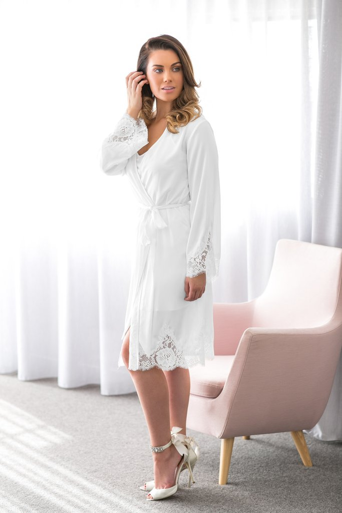 'Olivia' Satin Robe - can be personalised