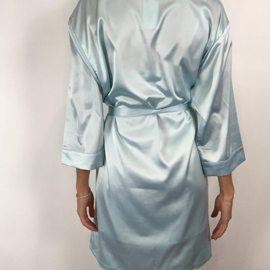 Satin Robe -Blue