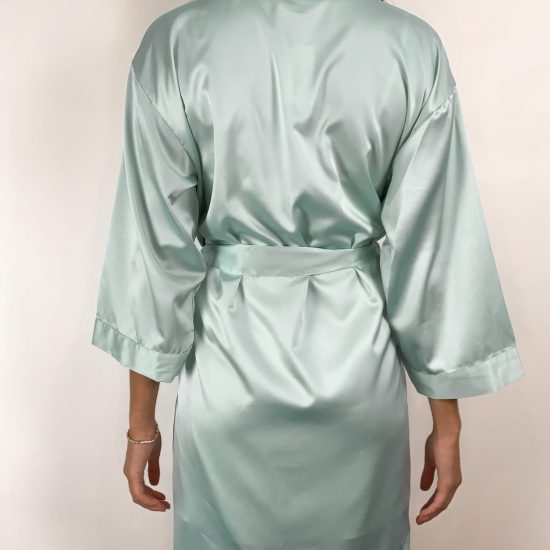Satin Robe -Mint
